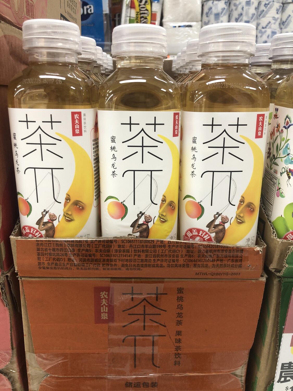 【RBG】农夫山泉水果茶系列 茶派 蜜桃乌龙茶 500ml
