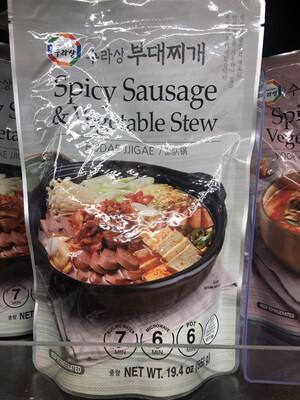 【RBF】Spicy Sausage & Vegetable Stew  韩国料理系列 部队锅 微波炉6分钟速食