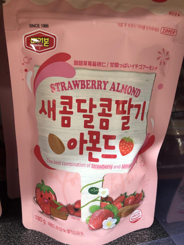 【RBG】Strawberry Almond 韩国酸甜草莓杏仁 180g