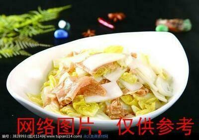 【湘浙汇】Stir-Fried Baby choy with Yuba (Tofu skin)腐皮娃娃菜(CLOSED MONDAY)