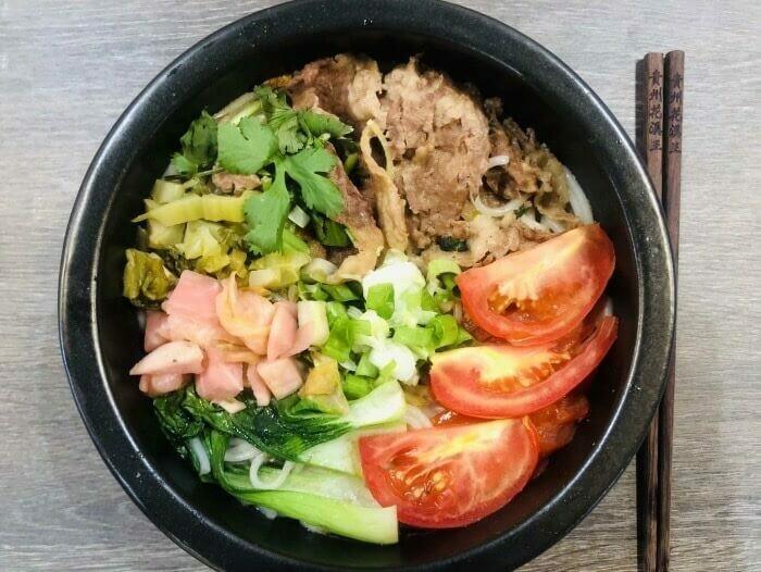 【花溪王】Beef In Tomato Soup W. Vermicelli砂锅番茄肥牛米线