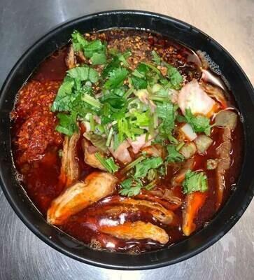 【花溪王】Spicy Intestine W. Vermicelli 秘制麻辣大肠粉