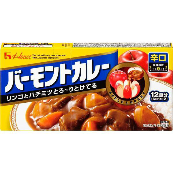 【RBG】HouseFoods Curry With A Touch Of Apple And Honey Hot 苹果蜂蜜咖喱 辛口230g