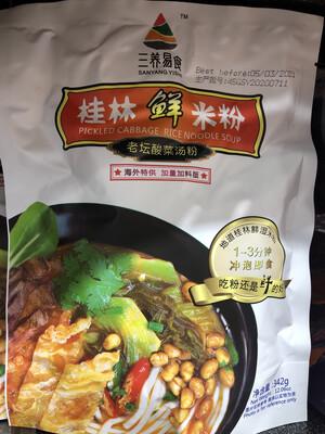 【RBG】三养易食 桂林鲜米粉 老坛酸菜汤粉 342g