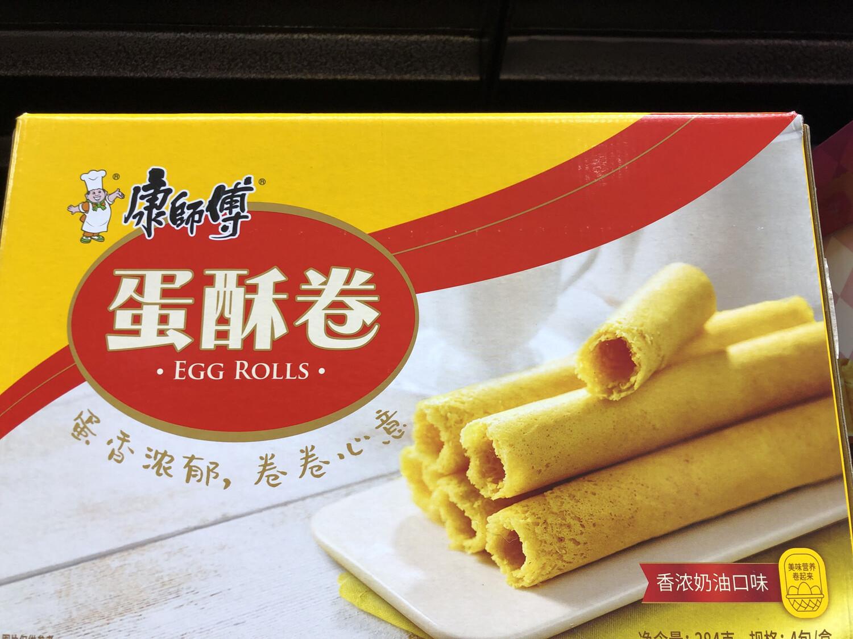 【RBG】康师傅蛋酥卷 香浓牛奶味 384g 4pack/box