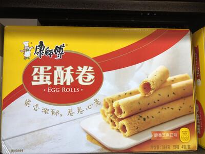 【RBG】康师傅蛋酥卷 醇香芝麻味 384g 4pack/box