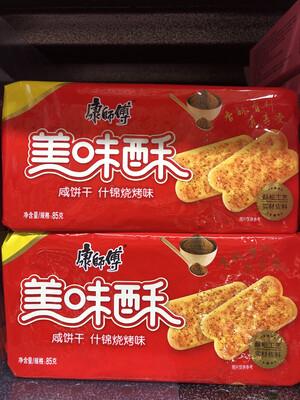 【RBG】康师傅 美味酥咸饼干 什锦烧烤味 85g