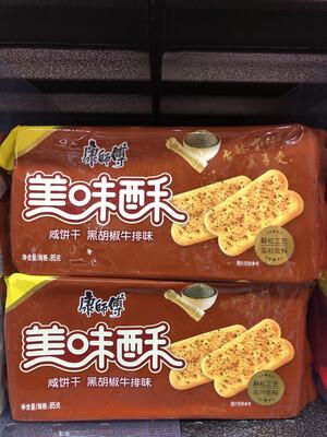 【RBG】康师傅 美味酥咸饼干 黑胡椒牛排味 85g