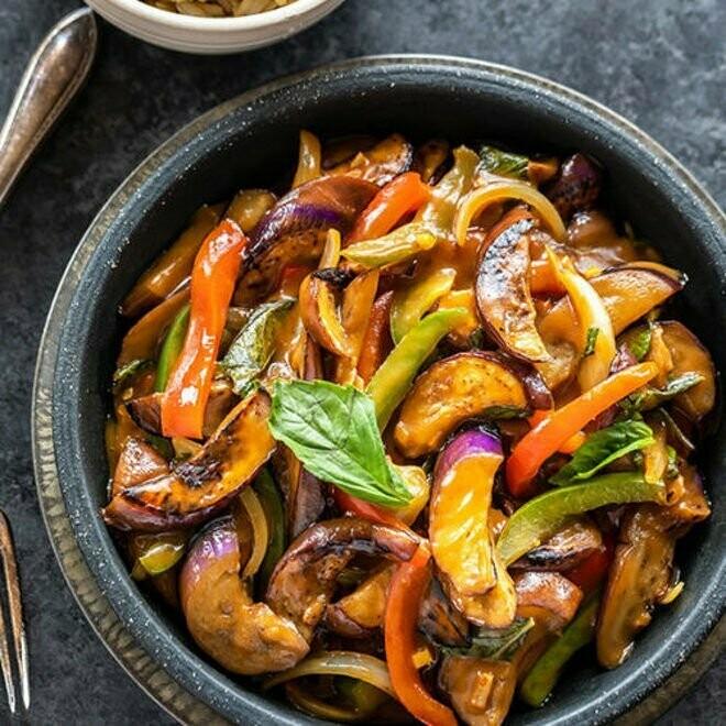 【竹苑】Basil Flavored Eggplant 九层塔茄子   (Closed Monday)