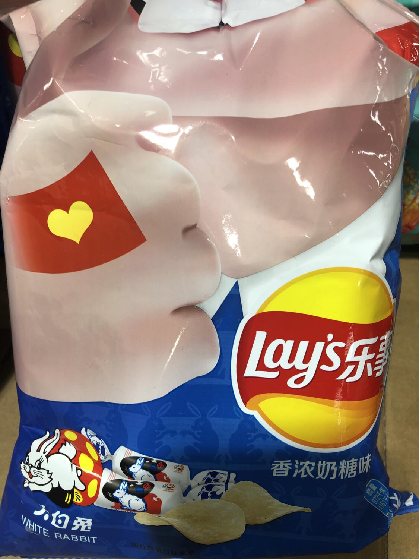 【RBG】Lay's Potato Chips (Creamy Candy Flavor)  乐事薯片 大白兔香浓奶糖味
