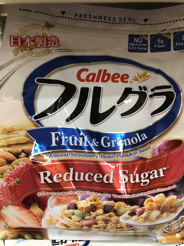 【RBG】日本calbee水果早餐麦片425G 低糖原味