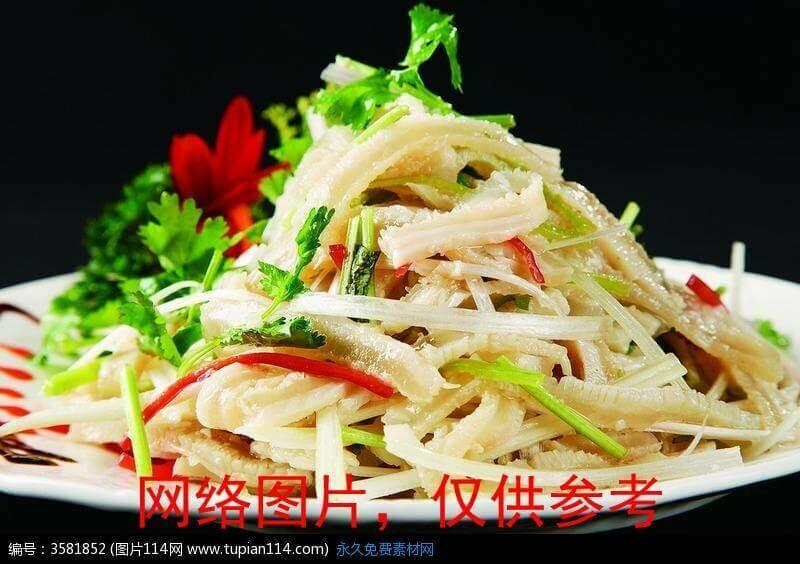 【面面聚道】Stir Fried Shredded Pork Belly with Cilantro 芜爆肚絲