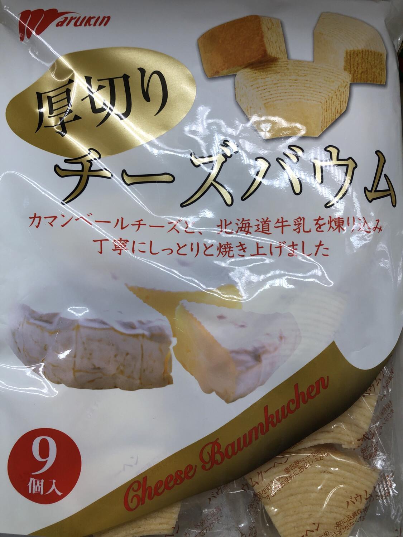 【RBF】Marukin Cheese Baymkuchen Cake日本北海道牛乳厚切小蛋糕 9枚入