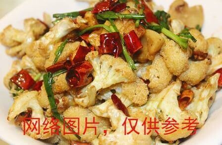 【滋味湖南】Sauteed Cauliflower with Pork Oil油渣子炒花菜