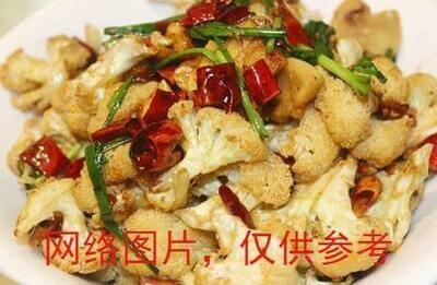 【滋味湖南】Sauteed Cauliflower with Pork Oil油渣子炒花菜