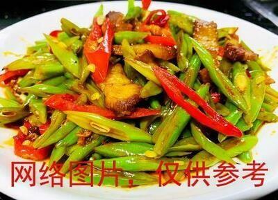 【滋味湖南】Twice Cooked Pork with String Bean四季豆炒回锅肉