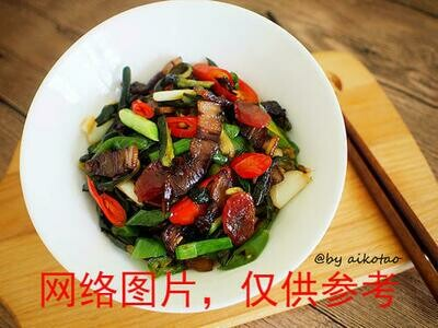 【滋味湖南】Sauteed Pork with Dried Cucumber Skin黄瓜皮炒腊肉/鸡胗