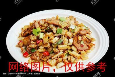 【滋味湖南】Sauteed Pork with Dried White Chili Peppers白辣椒炒腊肉/鸡胗