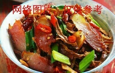 【滋味湖南】Sauteed Pork with Dried Bamboo shoot笋干炒腊肉/鸡胗