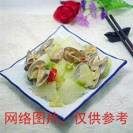 【滋味湖南】 Fried Clams with Sauteed Winter Melon蛤肉烧冬瓜