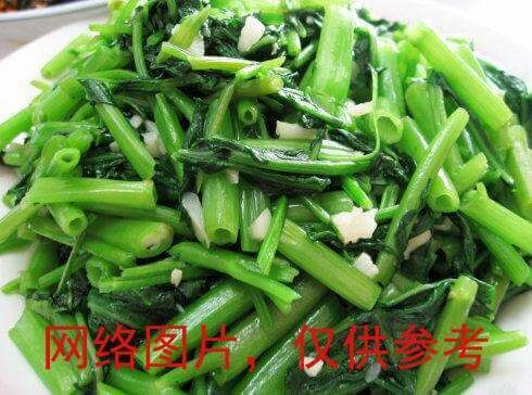 【滋味湖南】On Choy Stem with Hot Black Bean with garlic蒜蓉空心菜(不辣)