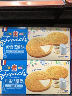 【RBG】义美法兰酥 饼干 2片*6包 132g 牛奶口味