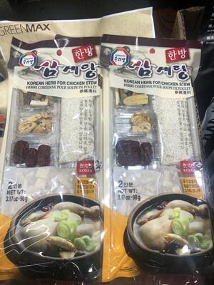 【RBG】韩国参鸡汤料 90g