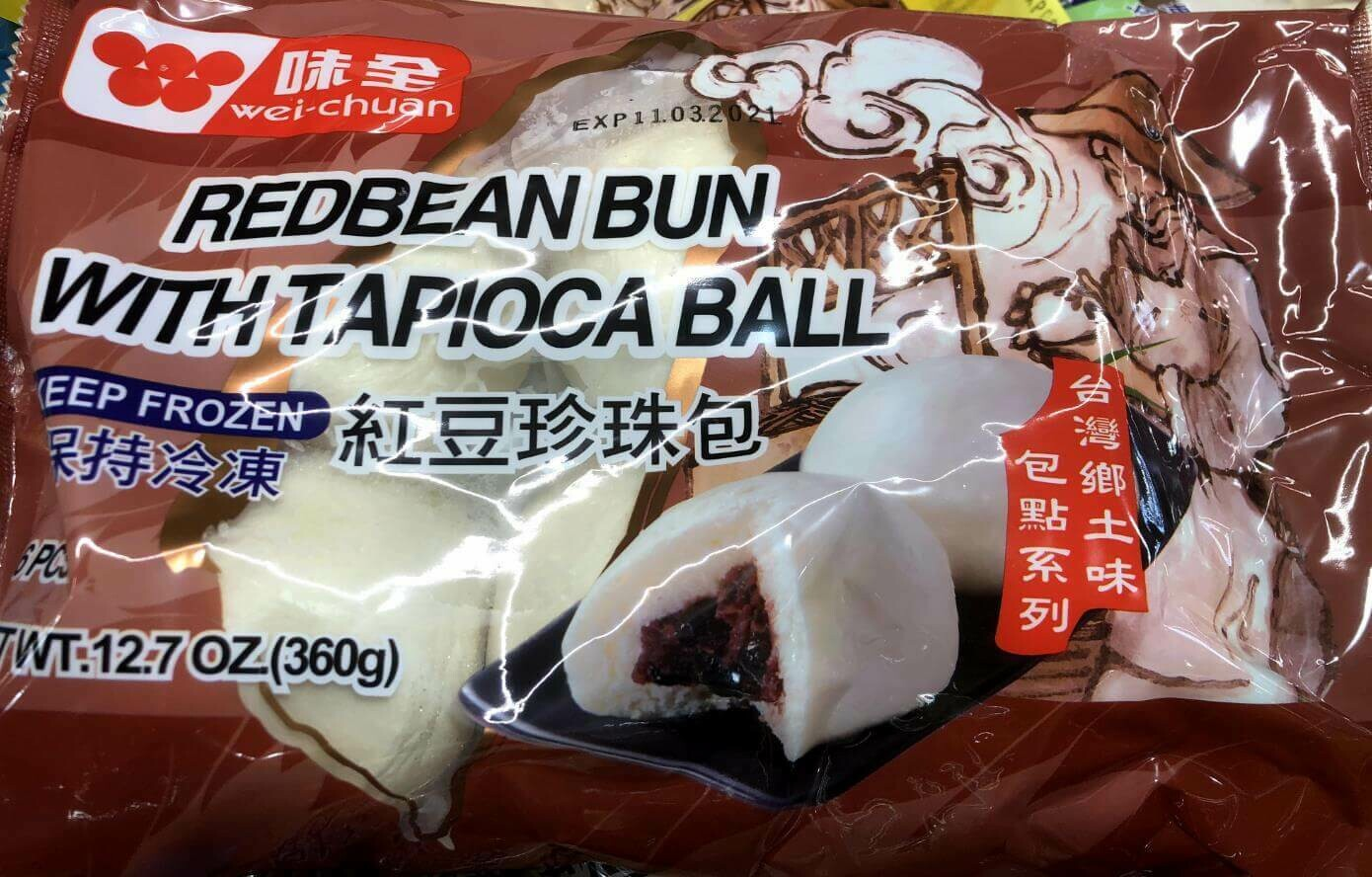 【RBF】Wei-Chuan  Red bean Bun With Tapioca Ball 味全 红豆珍珠包 12.7oz(360g)