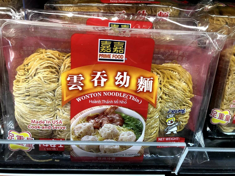 【RBF】P F S  Wonton Noodle嘉嘉 云吞幼面14oz