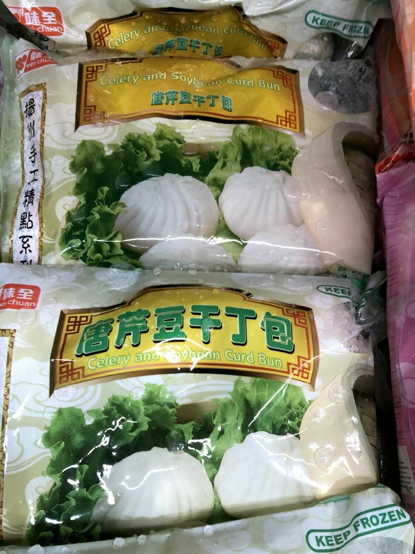 【RF】Wei-Chuan Celery and Soybean Curd Bun 味全扬州手工 唐芹豆干丁包~6PCS 300g