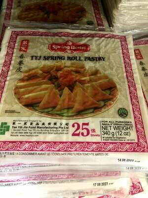 """【RF】Spring Home Tyj Spring Roll Pastry第一家 春卷皮 8"""" 25sheets 12oz"""