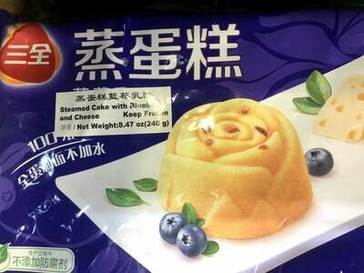 【RBF】Steamed Cake with Blueberry and Cheese 三全 蒸蛋糕 蓝莓乳酪(240g)