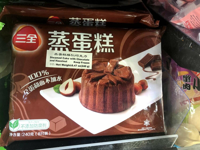 【RBF】Steamed Cake with Chocolate and Hazelnut 三全 蒸蛋糕 榛仁巧克力(240g)