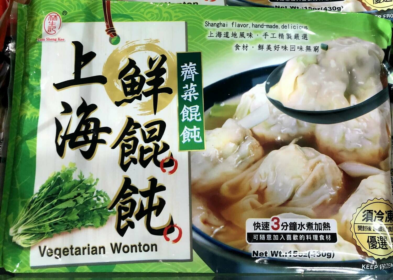 【RBF】Vegetarian Wonton  上海鲜馄饨 荠菜馄饨15oz(430g)
