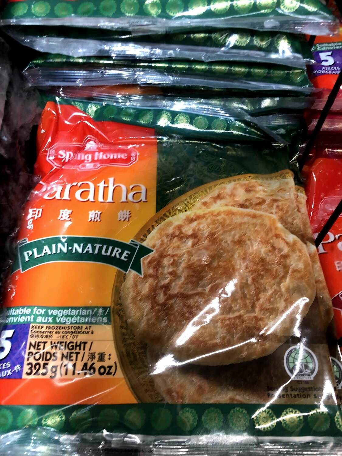 【RBF】Spring Home Paratha Plain Nature第一家 印度煎饼 原味 11.46oz(325g)