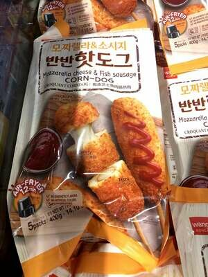 【RBF】Cheese & Fish Sdusdge Corn Dog 脆皮芝士鱼肉肠热狗 400g