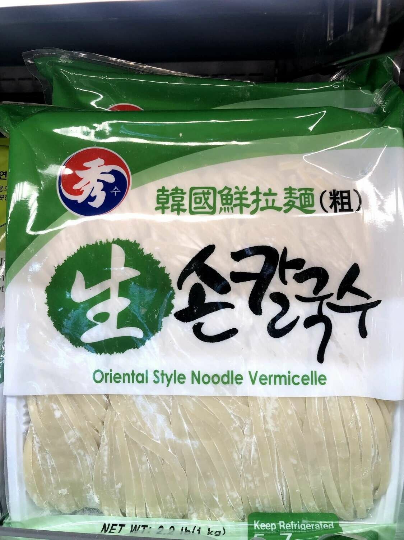 【RBF】Oriental style Noodle韩国进口 鲜面条(粗)1000g