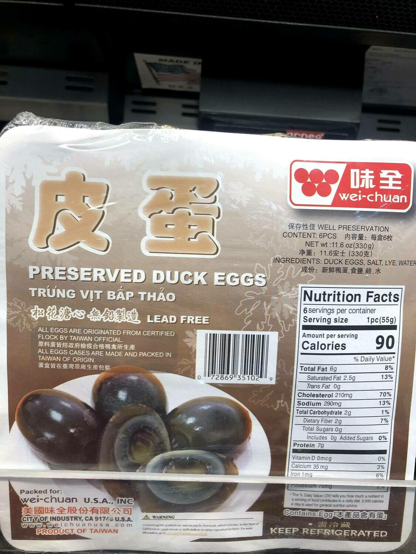 【RBF】Preserved Duck Eggs味全皮蛋328g