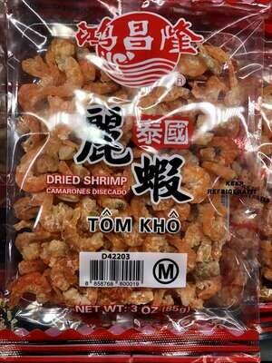 【RBS】 Dried Shrimp (M)鸿昌隆泰国蛎虾(M)3oz