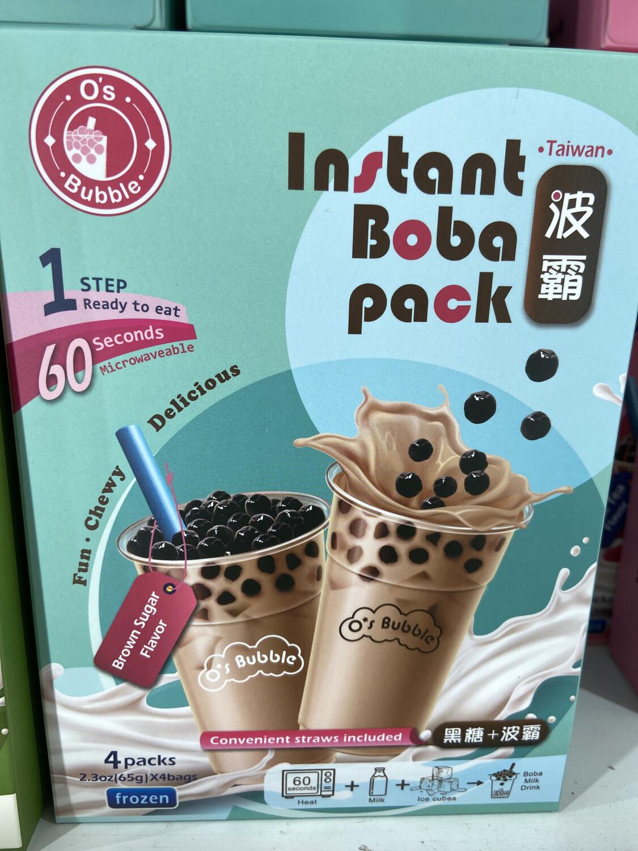 【RG】Instant Boba Pack Brown Sugar Flavor 黑糖+波霸 60秒自制奶茶DIY套装 4包入