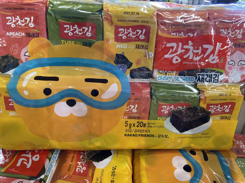 【RDG】KC 韩国卡通包装 即食海苔 20包入