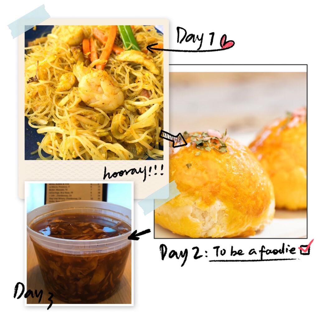【一点心】Combo A:星洲炒米粉, 酸辣汤, 菠萝酥 (Thursday & Friday)