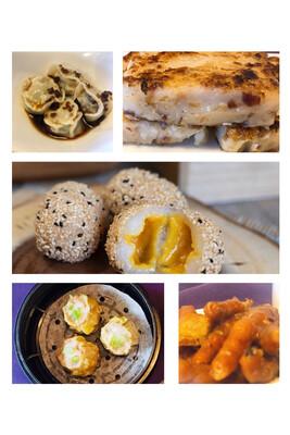 【一点心】Combo B:烧麦,凤爪,萝卜糕,京川饺,芝麻球 (Thursday & Friday)