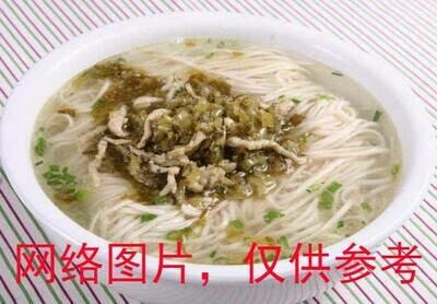【味佳香】Preserved Veg. & Pork Noodle Soup 雪菜肉丝汤面(Closed Monday)