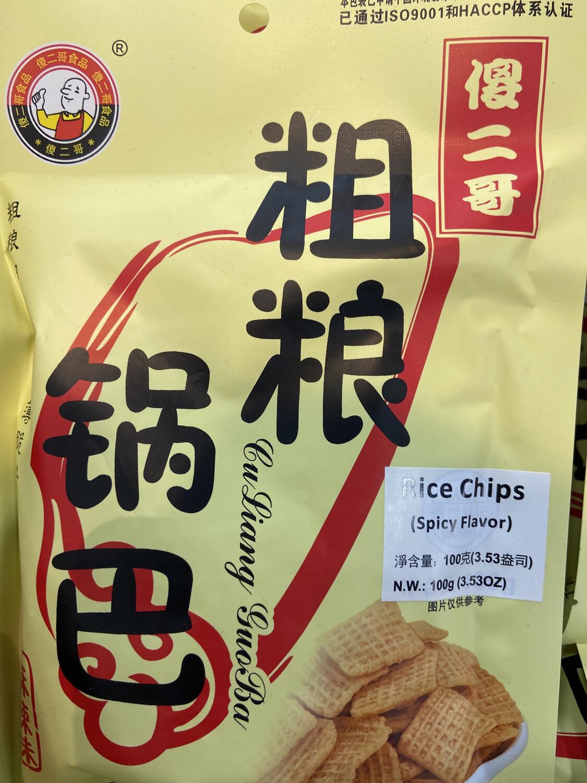 【RDG】傻二哥 粗粮锅巴 麻辣味 100g 粗粮细作 酥香薄脆好口味