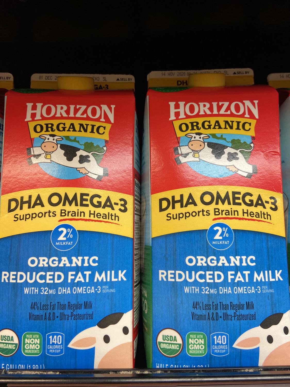 【RDF】Horizon Organic 2% Reduced Fat Milk 有机2%低脂牛奶 64oz
