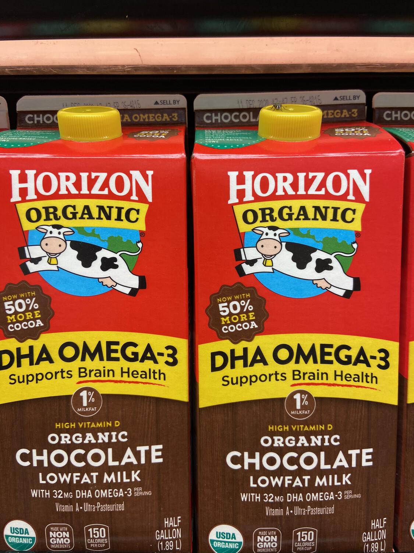 【RDF】Horizon Organic Chocolate 1% Low Fat Milk 有机巧克力1%低脂牛奶 64oz
