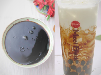 【鲜芋仙】Grass Jelly Soup Signature W. Milk Tea W. Black Sugar Boba招牌烧仙草 配半价黑糖珍珠奶茶