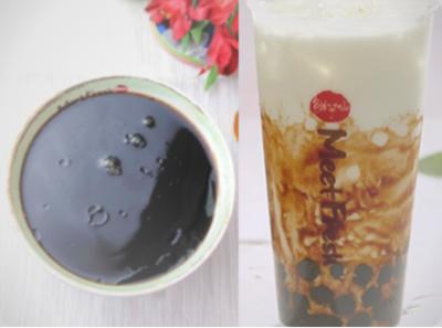 【鲜芋仙】Grass Jelly Soup Signature W. Milk Tea W. Black Sugar Boba招牌烧仙草 配半价黑糖珍珠奶茶