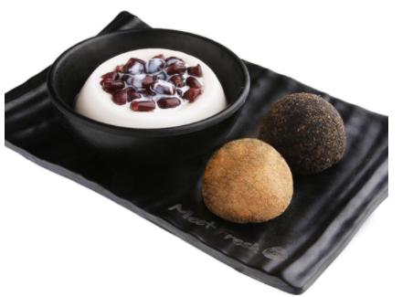 【鲜芋仙】Almond Pudding & Peanut & Sesame Mochi Combo杏仁布丁麻糬拼盘